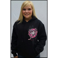 Dirt Late Model Dirty Girl Hoodie by Dirty Girl for Race Fans
