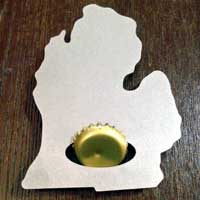LP Michigan Bottle Opener