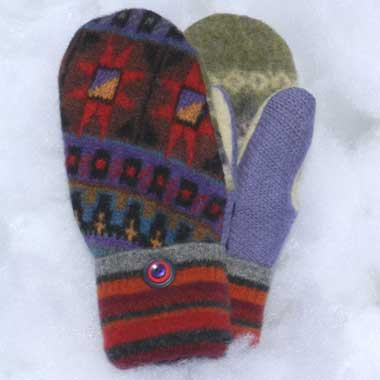 Recycled Wool Mittens – Multi Color