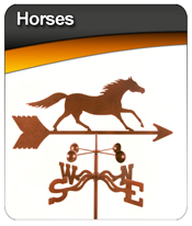 Horses Weather Vanes