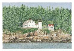 Bass Harbor Lighthouse note card