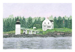 Marshall Point Lighthouse note card