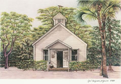 Chapel by the Sea Florida note card