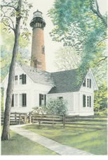 Currituck Lighthouse note card