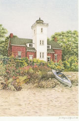Forty Mile Point Lighthouse note card