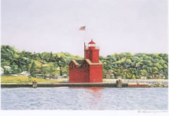 Holland Harbor Lighthouse note card