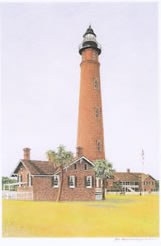 Ponce de Leon lighthouse note card
