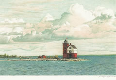 Round Island Lighthouse note cards