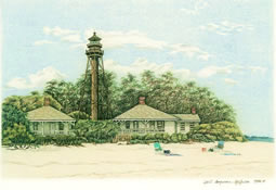Lighthouse on Sanibel Island note card