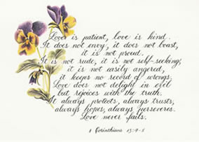 Love is patient 1 Corinthians 13:4-8 Scripture