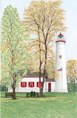 Michigan Lighthouse Note Cards