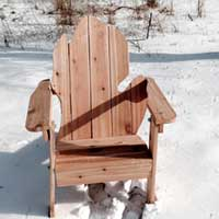 Folding Michigan Adirondack Chair