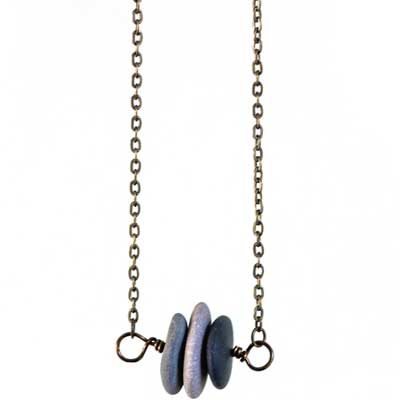 Sideways Stacked Stone Necklace