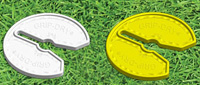 Grip Dry Golf Club Tool - Twin Pack yellow/white