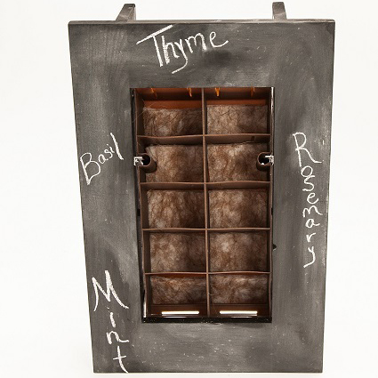 Indoor outdoor living planter frame kit chalkboard - Indoor living wall planter ...