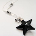 Midnight Crystal Star Pendant Necklace