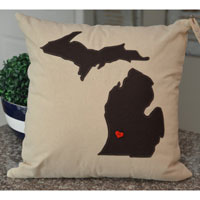 Dark Brown Michigan Pillow