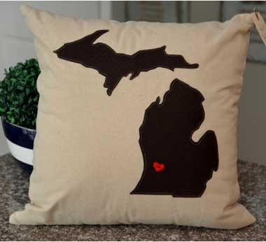 Dark Brown Michigan Pillow