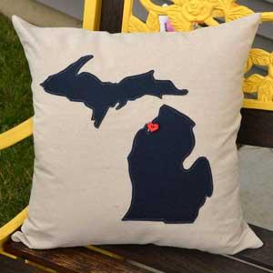 Introducing Home Sweet Michigan Pillows