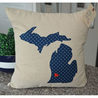 Polka Dot Michigan Pillow
