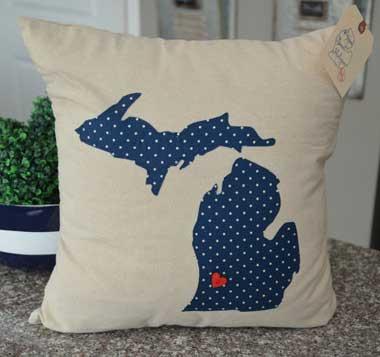 Polka Dot Michigan Pillow