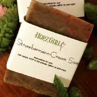Strawberries and Cream Hops Soap