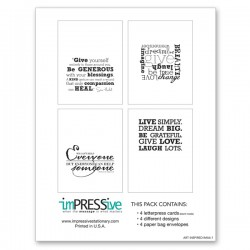 Art Inspired Collection Letterpress Cards
