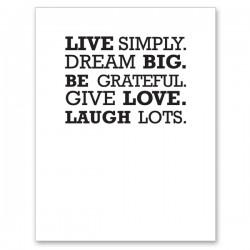LIVE Letterpress Card