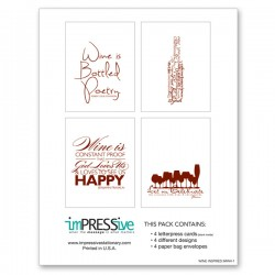Wine Inspired Collection Letterpress Cards