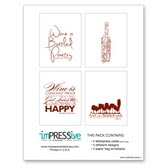 Wine Inspired Letterpress Card Set