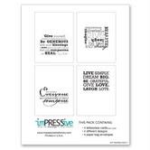 Art Inspired Letterpress Card Set