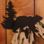 Bear and Pine Tree Curtain Hook