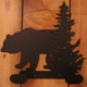 2 Hook Bear & Pine Tree Iron Hanger