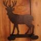 2 Hook Deer Iron Hanger
