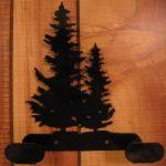 2 Hook Double Pine Tree Iron Hanger