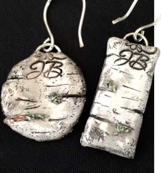 JackieB Designs Birch Clay Art Earrings