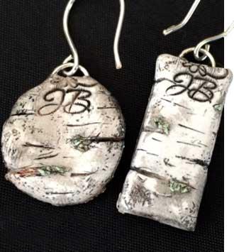 JackieB Designs Birch Clay Art Earrings