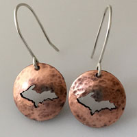 Copper Upper Peninsula Earrings