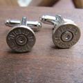 38 caliber bullet cufflinks