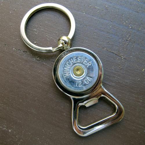 12 gauge shotgun shell keychain bottle opener jills jewels 4 you. Black Bedroom Furniture Sets. Home Design Ideas