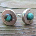 38 caliber bullet earrings