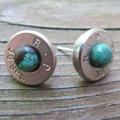 38 caliber bullet earrings