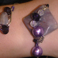 Wire Wrist Art in Polished Purple Stone