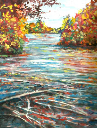 Chippewa Fall, Hand Signed PRINT, 8×10 in 11×14 matte