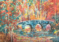 Dow Gardens Clinker Bridge, Hand Signed Print 8×10 in 11×14 inch matte