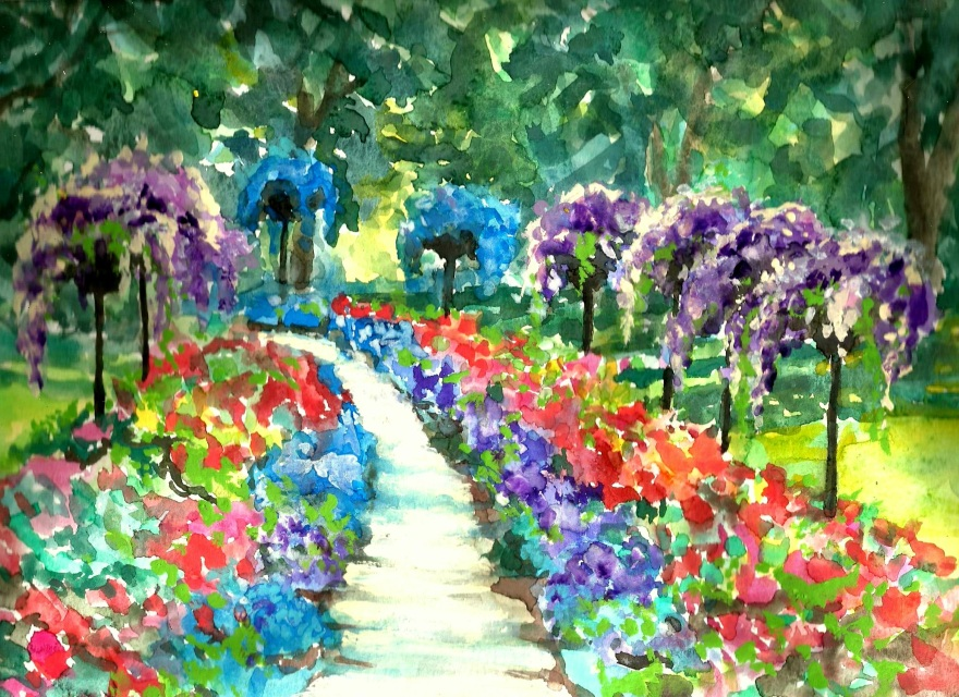 Dow Gardens, Hand Signed Print 8x10 in 11x14 inch matte