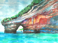 Pictured Rocks, Michigan, Hand Signed Print 8x10 in 11x14 matte