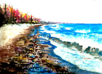 White Fish Point, Michigan Hand Signed Print 8x10 in 11x14 matte