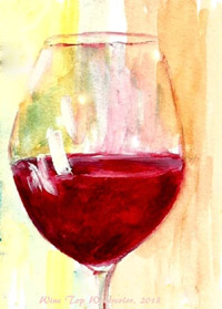 Wine Glass Top Signed Print 8x10 in 11x14 matte