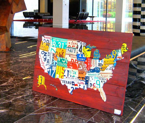 About License Plate Art USA Map Michigan Map Design Turnpike